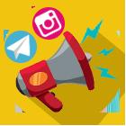تبلیغات گسترده تلگرامی و اینستاگرامی